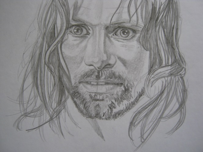 Aragorn sketch process 7 delphina rose | mostly textile art and design