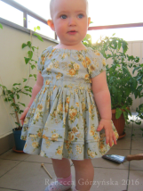Grey Roses Baby Dress, size 12-18m