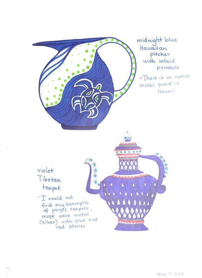 Hawaiian pitcher, Tibetan teapot