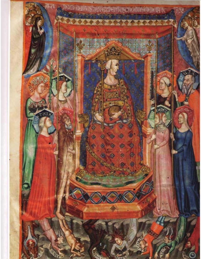 King Robert from the Anjou Bible, folio 3v  delphina rose | paper and cloth