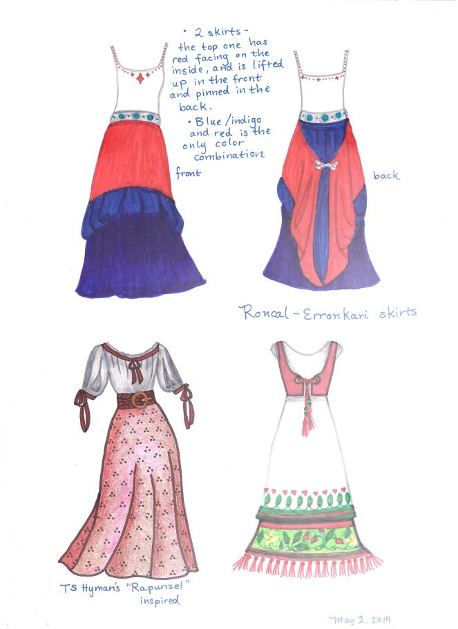 Roncal-Erronkari skirts, Trina Schart Hyman's Rapunzel