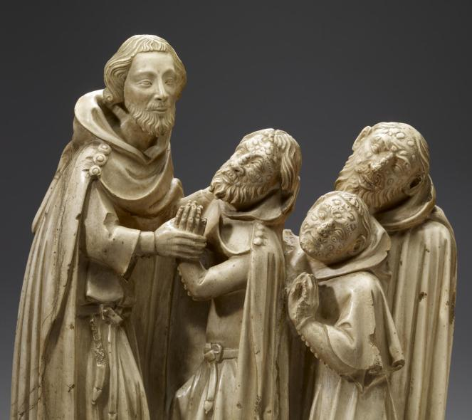 Saint Elzear Curing the Lepers