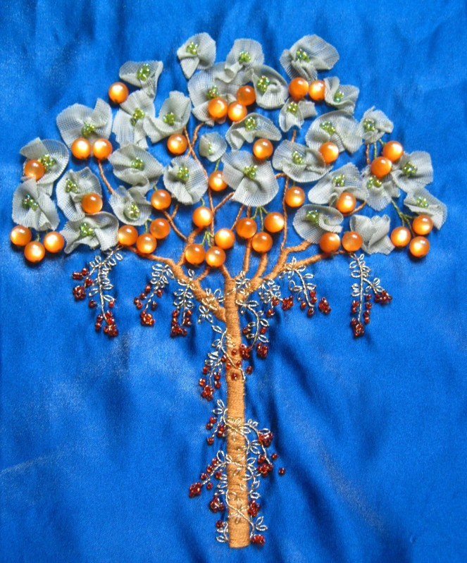 Tree of Life delphina rose | paper and cloth by Rebecca Elam