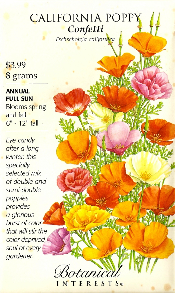 California poppy seed package