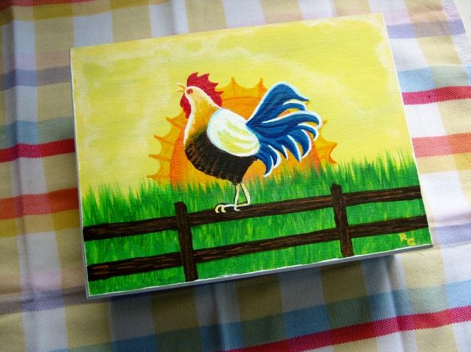 Sunrise Rooster--Rebecca Górzyńska