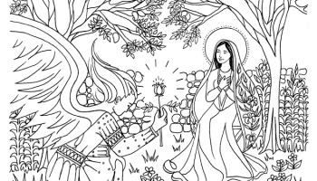 Annunciation Catholic Coloring Page