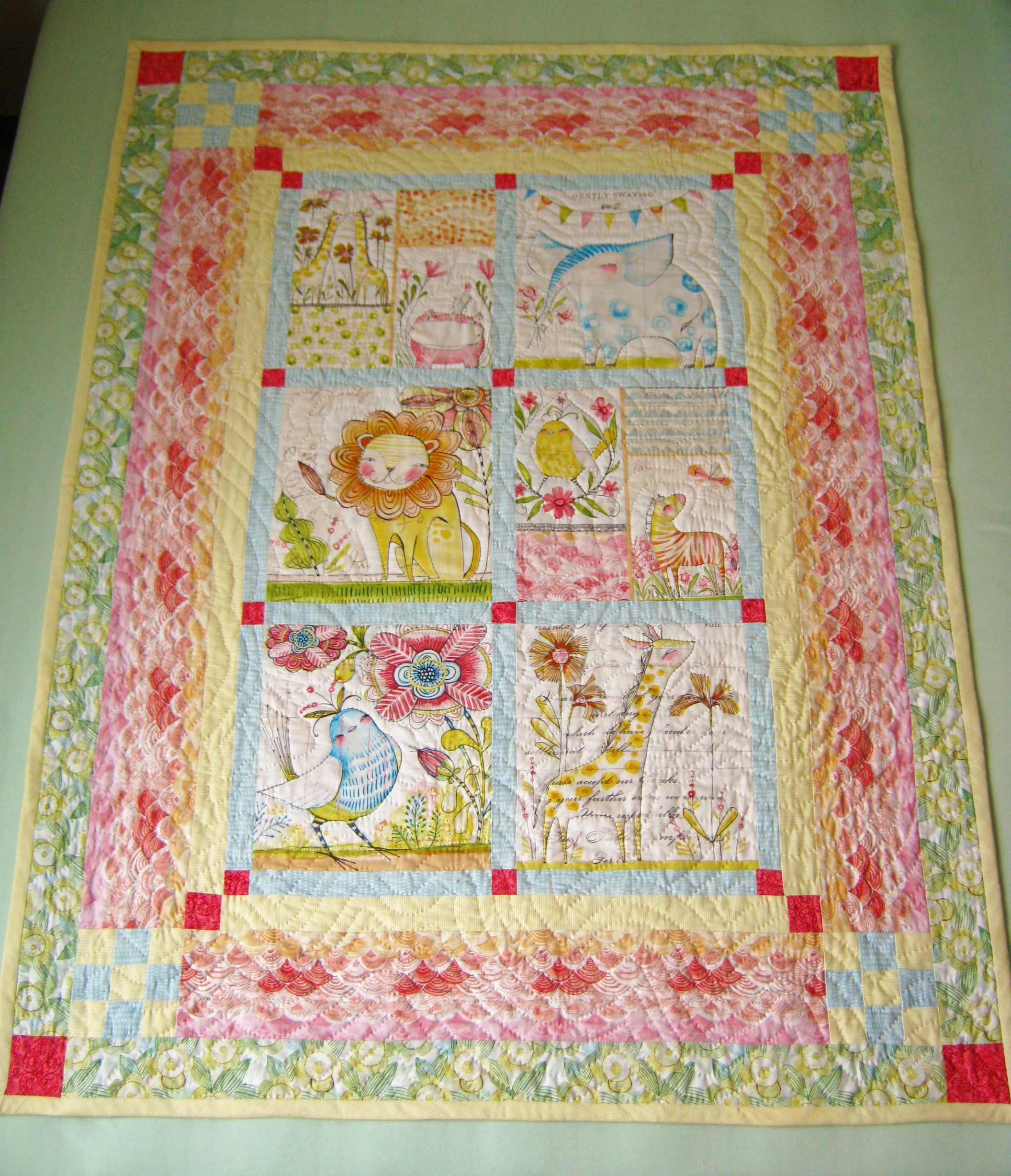 Hello World Baby Quilt Delphina Rose