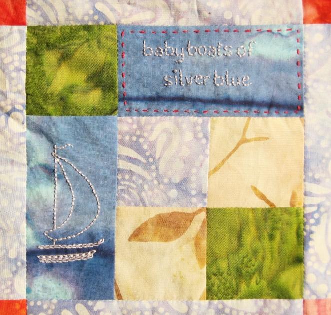 baby boats embroidery-- Rebecca Górzyńska