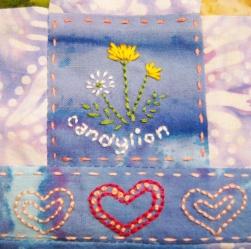 candylion embroidery-- Rebecca Górzyńska