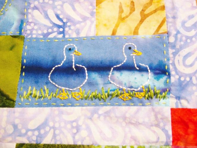 duck duck embroidery-- Rebecca Górzyńska