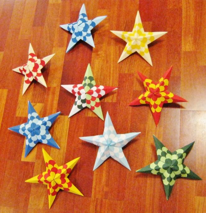 Fleet of Stars #002 Woven (pattern by PaperMatrix)