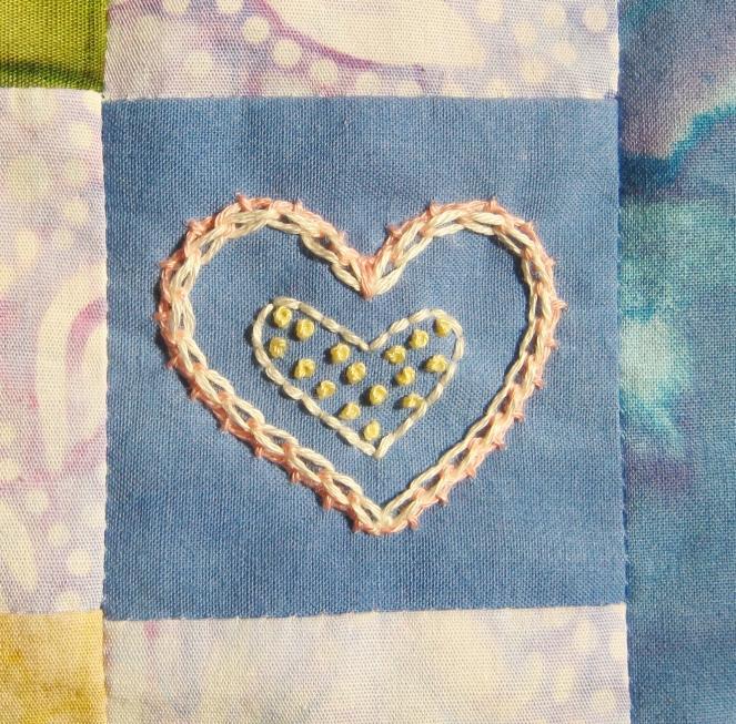 pink heart embroidery-- Rebecca Górzyńska