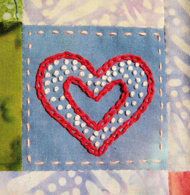 red heart embroidery-- Rebecca Górzyńska