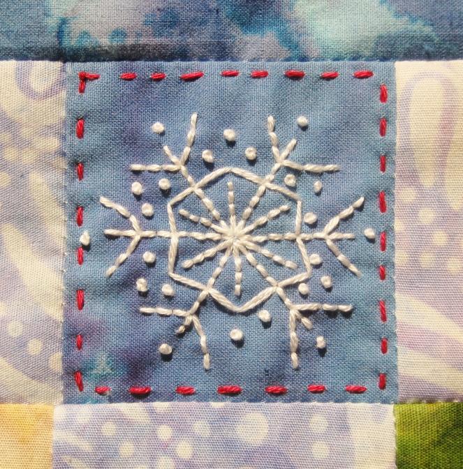 snowflake embroidery-- Rebecca Górzyńska
