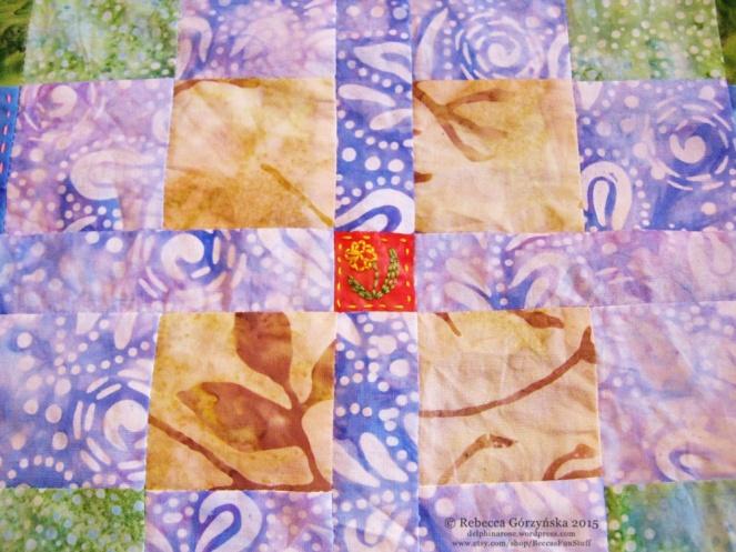 daffodil embroidery Rebecca Górzyńska