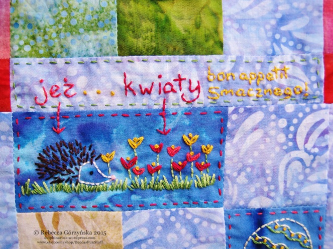 hedgehog embroidery Rebecca Górzyńska