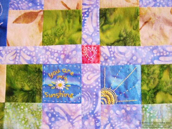 you are my sunshine embroidery Rebecca Górzyńska