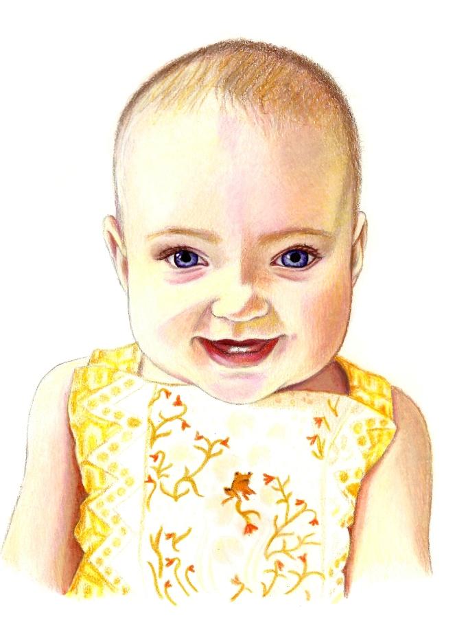 Emilka portrait 7 months