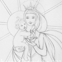 Ave Maris Stella sketch, take 3