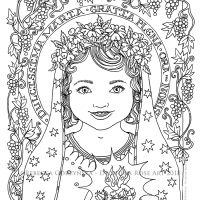 Our Lady's birthday coming on Sept 8th! + Catholic coloring pages