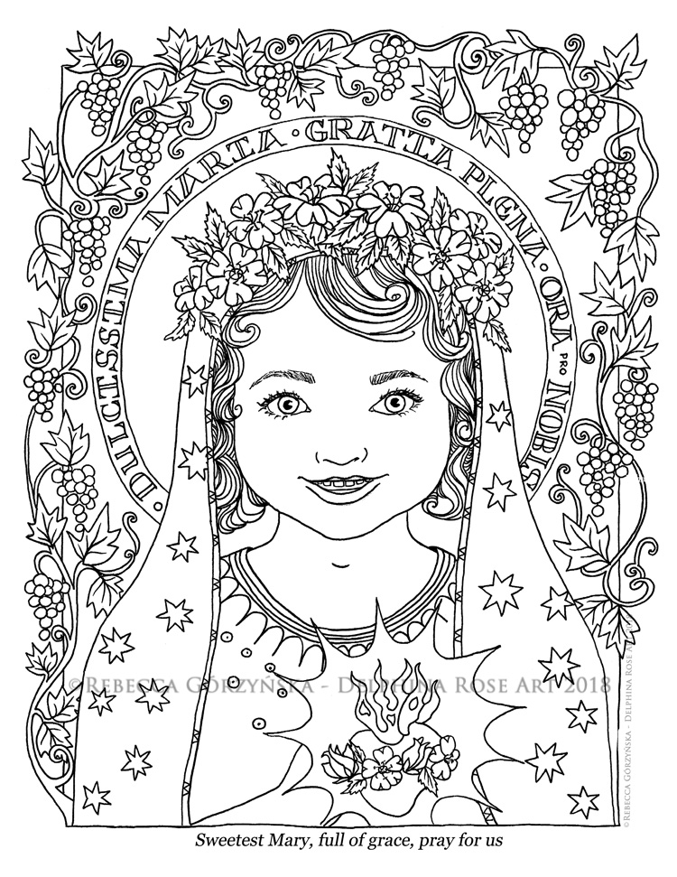 Our Lady\'s birthday coming on Sept 8th! + Catholic coloring pages ...