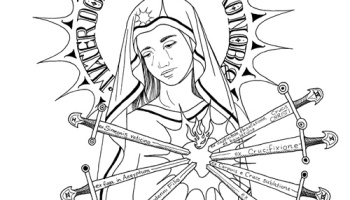 Our Ladys birthday coming on Sept 8th  Catholic coloring pages
