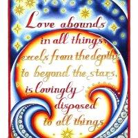 'Caritas Abundat' ('Love Abounds') Hildegard of Bingen — Catholic Coloring Page