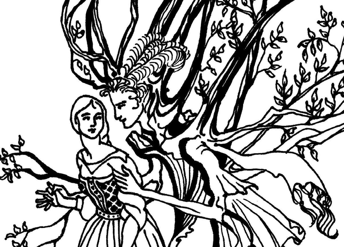 Nielsen & Rackham: fairy tale coloring pages