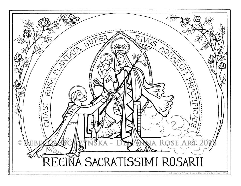 Our Lady of the Rosary / Victory Oct. 7th + Catholic Coloring Page ...