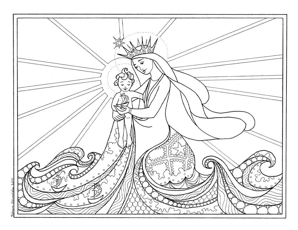 Star of the Sea / Stella Maris + Catholic Coloring Page – Delphina ...