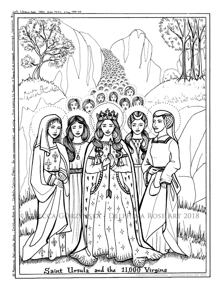 St Agnes Coloring Pages - Worksheet & Coloring Pages
