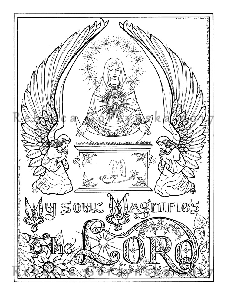 Mary Coloring Pages Catholic