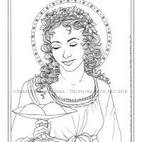 St. Agatha: Boobs-on-Plates - Embrace the Catholic Weird + Catholic Coloring Page