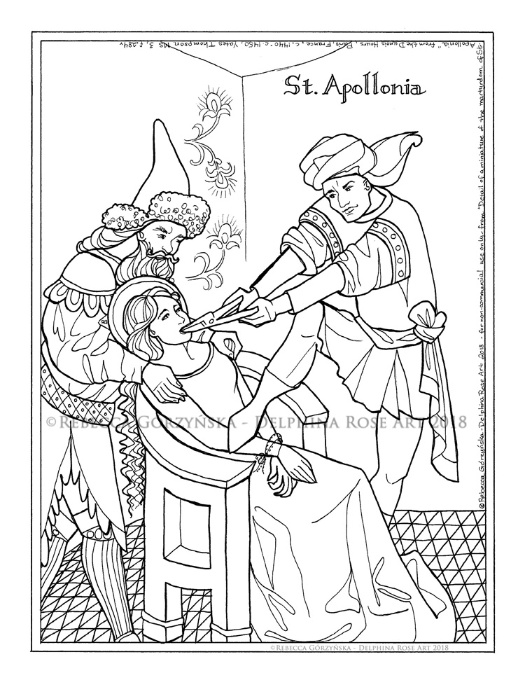 Catholic Coloring Pages – Delphina Rose