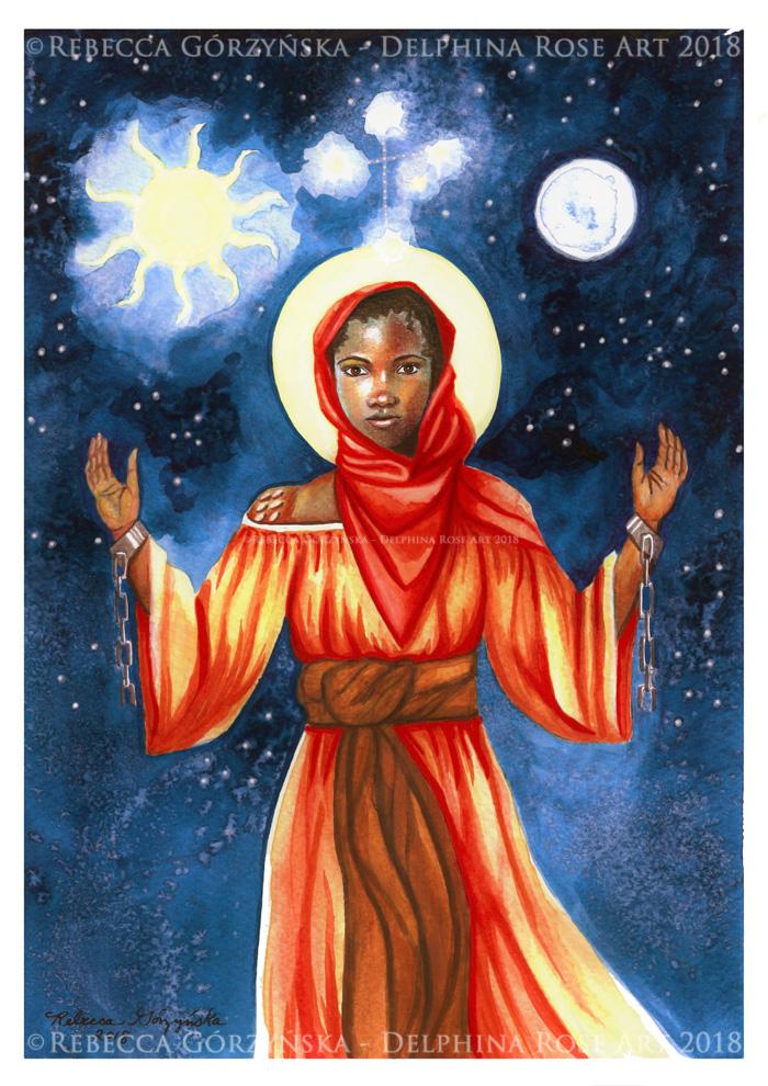 St. Josephine Bakhita – Patron of Sudan + Catholic Coloring Page ...