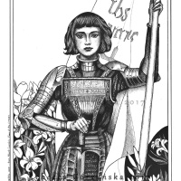 St. Joan of Arc - Feast Day May 30 + Catholic Coloring Page