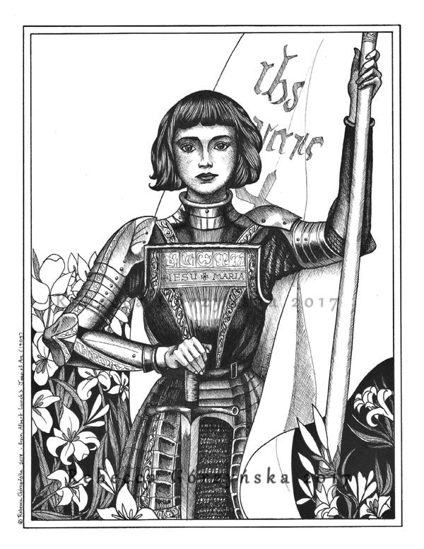 Joan of Arc Digital Art No Name smwm