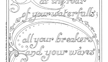 Psalm 427 8 Deep Calls To Calligraphy Coloring Page Set